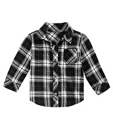 First Impressions Baby Boys Flannel Plaid Cotton Shirt, Created for Macy's