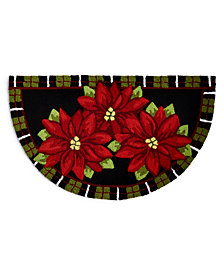 "Martha Stewart Collection Poinsettia 40"" x 24"" Slice Accent Rug, Created for Macy's"