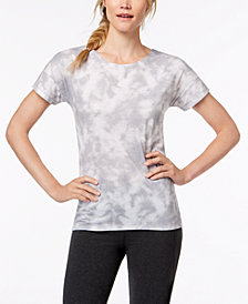 Ideology Tie-Dyed Cutout-Back T-Shirt, Created for Macy's