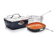 Gotham Steel 5-Pc. Square Pan Cookware Set