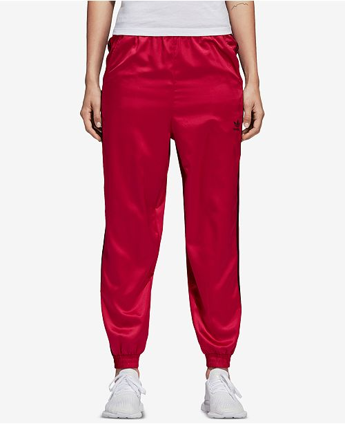 red adidas pants womens