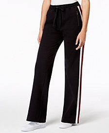 Material Girl Juniors' Flared Track Pants, Created for Macy's