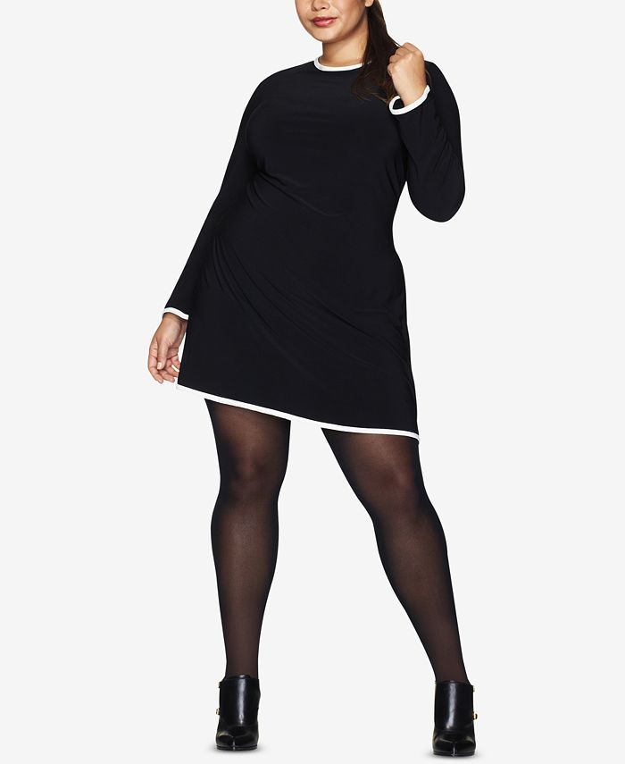 Hanes - Curves Plus Size Opaque Tights