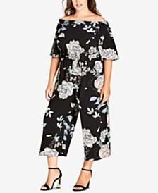 8705807bd240 City Chic Trendy Plus Size Off-The-Shoulder Jumpsuit