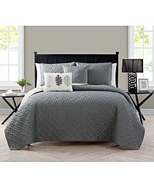 Hayden Reversible 5-Pc. Queen Quilt Set