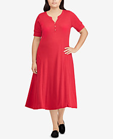 Lauren Ralph Lauren Plus Size A-line Cotton Dress