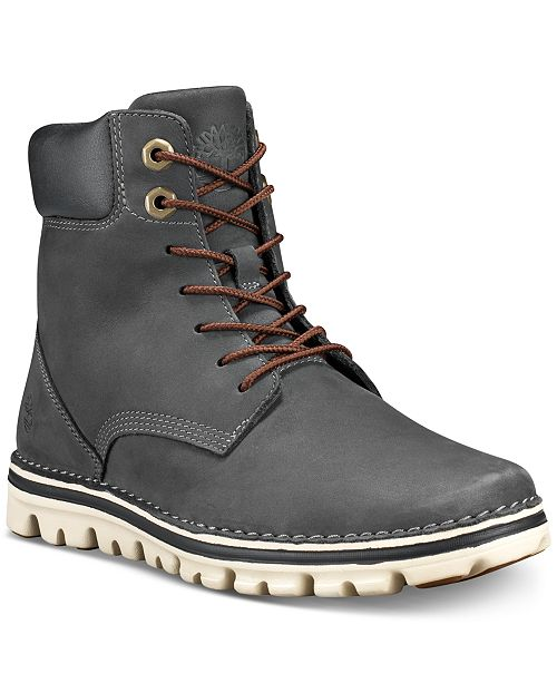 Timberland Women's Brookton Lace-Up Leather Boots, Created for Macy's