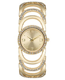 Charter Club Women's Crystal Accent Bracelet Watch 30mm, Created for Macy's