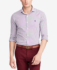 Polo Ralph Lauren Men's Classic-Fit Plaid Performance Twill Shirt