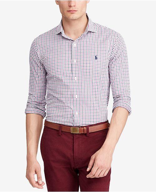 a623827b120c ... Polo Ralph Lauren Men's Classic-Fit Plaid Performance Twill Shirt ...