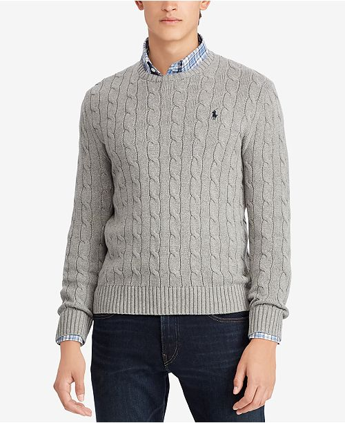 fa8cf41ab4df4c Polo Ralph Lauren Men's Big & Tall Cable-Knit Sweater & Reviews ...