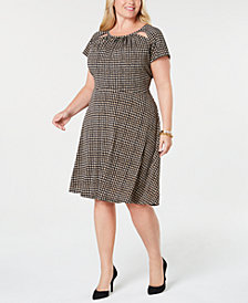 MICHAEL Michael Kors Plus Size Cutout A-Line Dress