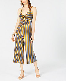 Project 28 Tie-Front Striped Jumpsuit