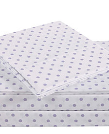 Truly Soft Everyday Dot 4 Piece Full Sheet Set