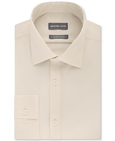 Michael Kors Men's Classic/Regular Fit Non-Iron Airsoft Stretch Performance Solid Dress Shirt, Online Exclusive