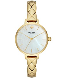 Women's Metro Gold-Tone Stainless Steel Bracelet Watch 34mm