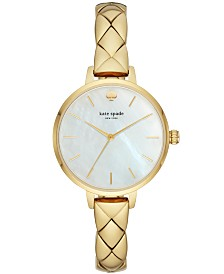 kate spade new york Women's Metro Gold-Tone Stainless Steel Bracelet Watch 34mm