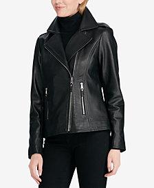 Lauren Ralph Lauren Asymmetric Zip Moto Jacket