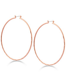 GUESS Textured Hoop Earrings