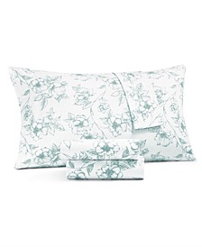 CLOSEOUT! 4-Pc. Printed King Sheet Set, 400 Thread Count 100% Cotton Percale, Created for Macy's