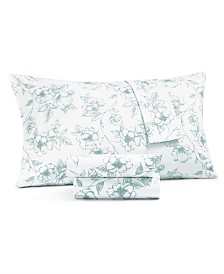 Martha Stewart Collection 4-Pc. Printed California King Sheet Set, 400 Thread Count 100% Cotton Percale, Created for Macy's