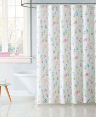 Kids Garden Fairies Shower Curtain