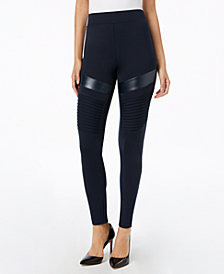 I.N.C. Moto Comfort Smoothing Leggings, Created for Macy's