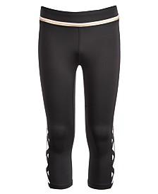 Ideology Big Girls Leopard-Print Caged Capri Leggings, Created for Macy's