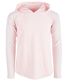 Ideology Big Girls Plus Mesh Hooded T-Shirt, Created for Macy's