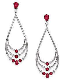 Danori Crystal & Stone Layered Drop Earrings, Created for Macy's