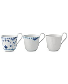 Gifts with History Laced Mugs, Set of 3