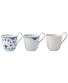 Royal Copenhagen Gifts with History Laced Mugs, Set of 3