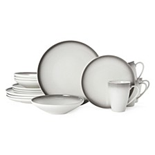 Theo Gray 16-Pc. Dinnerware Set, Service for 4
