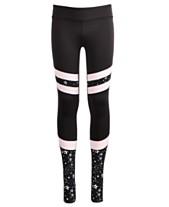 c52e88cb0b4 Ideology Big Girls Plus-Size Space-Print Colorblocked Stirrup Leggings