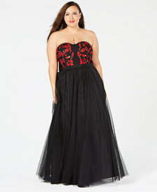 City Chic Trendy Plus Size Embroidered Dolce Maxi Dress
