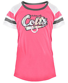 5th & Ocean Indianapolis Colts Pink Foil T-Shirt, Girls (4-16)