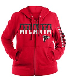 5th & Ocean Women's Atlanta Falcons Plus Glitter Block Hoodie