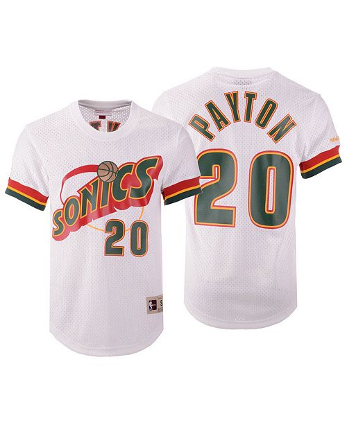 f55060c12b85 ... Mitchell   Ness Men s Gary Payton Seattle SuperSonics Name and Number Mesh  Crewneck ...