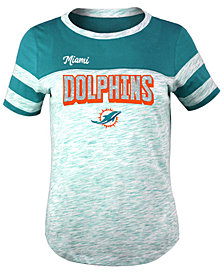 5th & Ocean Miami Dolphins Space Dye Glitter T-Shirt, Girls (4-16)