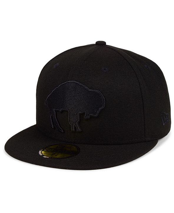 New Era Buffalo Bills Black on Black 59FIFTY FITTED Cap