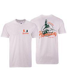 Retro Brand Men's Miami Hurricanes Fishing Graphic T-Shirt
