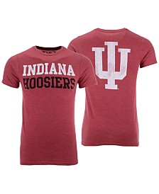 Retro Brand Men's Indiana Hoosiers Team Stacked Dual Blend T-Shirt