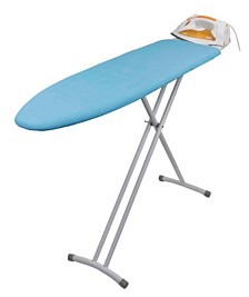 Sunbeam T-Leg Ironing Board with Iron Rest and Machine Washable Cotton Cover