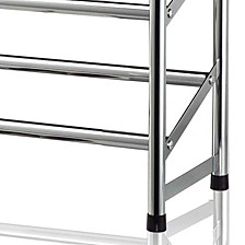 2-Tier Chrome Expandable Shoe Rack