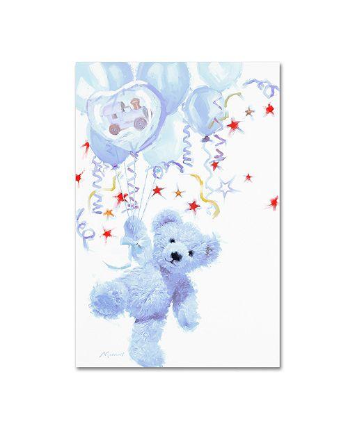 "Trademark Global The Macneil Studio 'Blue Teddy' Canvas Art - 19"" x 12"" x 2"""