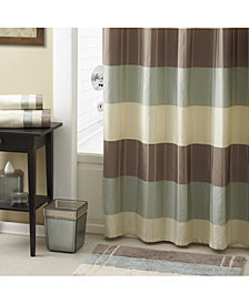 "Croscill Fairfax Colorblocked Stripe 72"" x 72"" Shower Curtain"