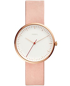 Women's Essentialist Blush Leather Strap Watch 38mm