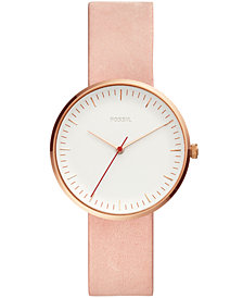 Fossil Women's Essentialist Blush Leather Strap Watch 38mm
