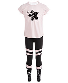 Ideology Toddler Girls Dance Star Graphic T-Shirt & Colorblocked Leggings, Created for Macy's