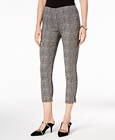 Tweed Fringe-Hem Ankle Pants, Created for Macy's